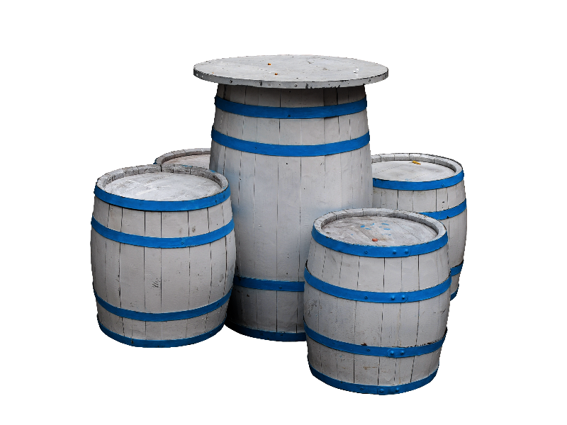 White Wood Barrels PNG