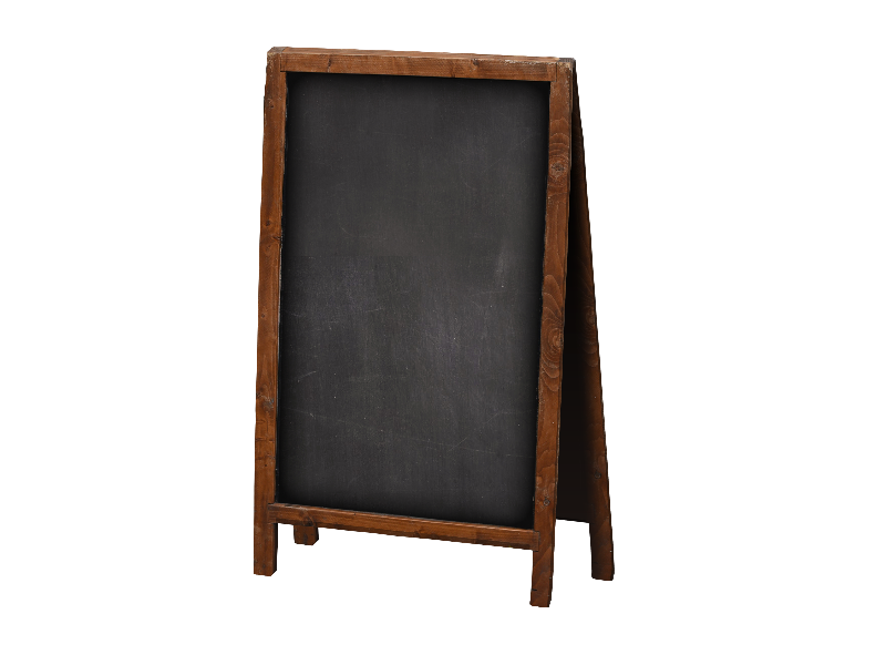 Wood Frame Chalkboard Sign PNG